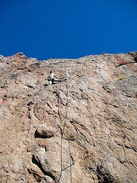 Rock Climbing Photo: Phase Dance, resting on a big ledge after the firs...