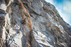 Rock Climbing Photo: Unknown Climber on Tangerine Dream. Photo by Nicho...