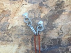 Rock Climbing Photo: Happy to see new bolts on top.