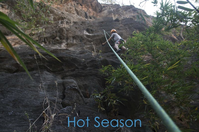 About to get scared on 'Hot Season'