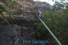 Rock Climbing Photo: About to get scared on 'Hot Season'