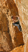 Rock Climbing Photo: Mike at the final hard moves Jornada del Muerto (5...