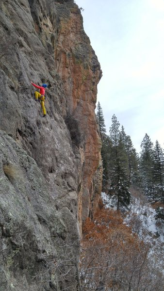 A chilly December 2015 day but still climbable.