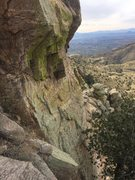 Rock Climbing Photo: One of the few places you will be able to see moss...