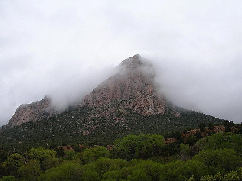 Rock Climbing Photo: In the mist.
