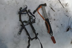 Rock Climbing Photo: Dave got out his current ice gear kit and climbed ...
