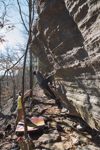 "Rock Climbing Photo: FA - ""The Gold Lining"" **** - v7 - Amazi..."