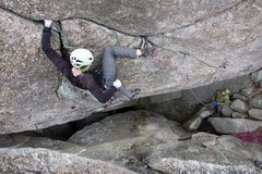 Rock Climbing Photo: Spencer working the first ascent of The Donald 5.1...