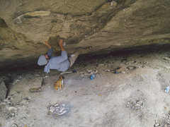 """Rock Climbing Photo: FA """"Natural D's"""" **** v7 @ Peters Branch"""