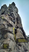 Rock Climbing Photo: Unknown Route, 5.11c/d.
