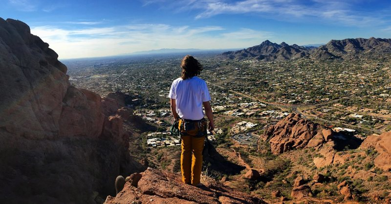 Rock Climbing Photo: An epic view at the top!
