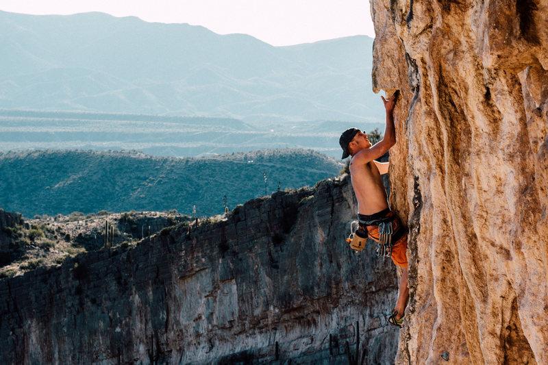 Rock Climbing Photo: Epic scenery for an epic climb