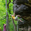 "Justin Frese on my FA ""Jabba the Hut"" v4. You should thank Frese if you see him, he is the guy that found Peters Branch."