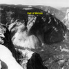 """Line of the """"Hall of Mirrors"""" (5.12c R) viewed from Half Dome"""