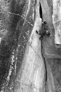 Rock Climbing Photo: pumping through the upper half