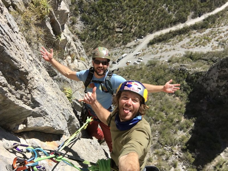 Rock Climbing Photo: The fourth pitch belay. Great view!