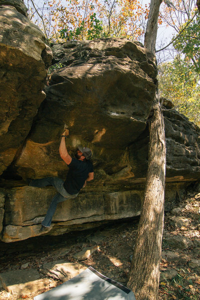 Rock Climbing Photo: Sending one of my favs. It starts to the right on ...