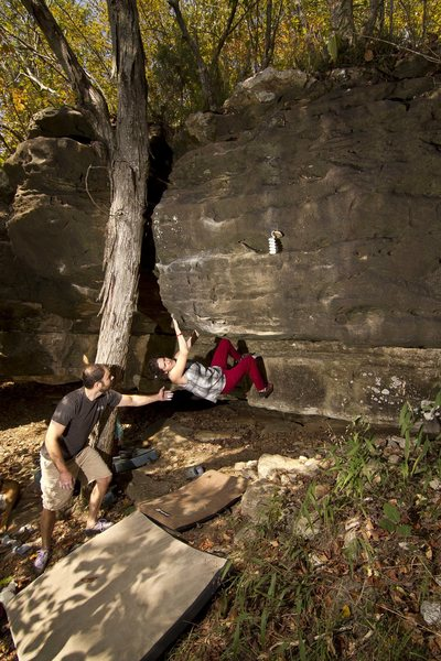 Rock Climbing Photo: Sara Splitter enjoying some of the best slopers at...