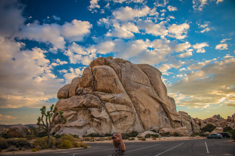 Intersection Rock at sunset. Photo by Nicholas Rondilone