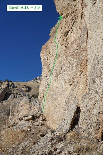 Rock Climbing Photo: Earth A.D. (February 2016)
