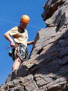 Rock Climbing Photo: At the anchors of Adrift 5.9- at Stack Rock