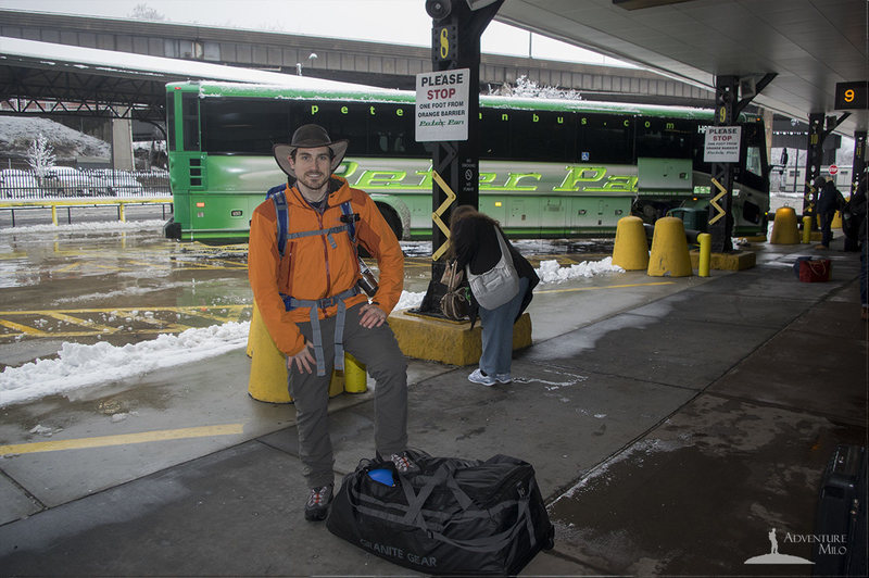 Photo from bus station showing bag