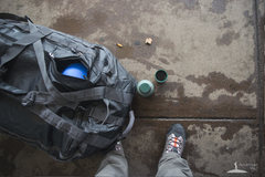 Rock Climbing Photo: Another photo of bag showing top of helmet