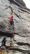 Rock Climbing Photo: Some jamming on Breach