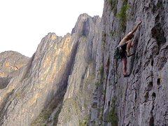 Rock Climbing Photo: Joel on Mr. Jesus