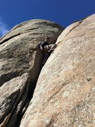 Rock Climbing Photo: Gino following.