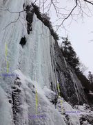 """Rock Climbing Photo: Unnamed smear, right of """"devil's tooth"""" ..."""