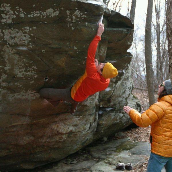 Rock Climbing Photo: v4/5 a friend of mine developed