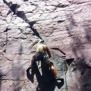 Rock Climbing Photo: Eric S. on lead