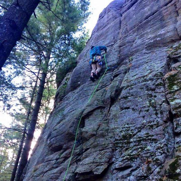 Rock Climbing Photo: Joel leading Chucklehead.