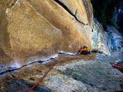 Rock Climbing Photo: buddy Mike following the 5th pitch. definitely doi...