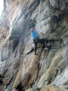 Rock Climbing Photo: Tall man beta