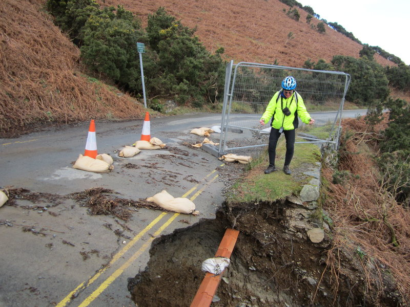 Washed out road ... Below Catbells ... Where is me Bike ?