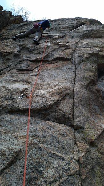 Rock Climbing Photo: Haley on Qs.