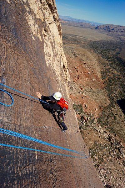 Rock Climbing Photo: Amazing finish on thin fingers
