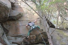 Rock Climbing Photo: Closer view of the same route.