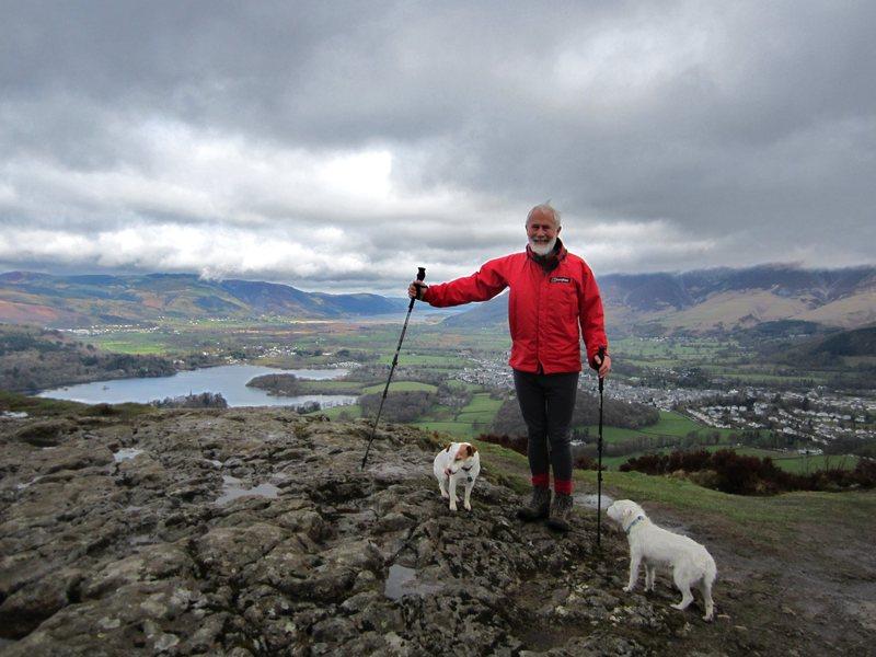 Lake District Hiker above Keswick