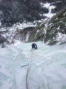 Rock Climbing Photo: Don on P1