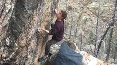 Rock Climbing Photo: Crimpin' hard.