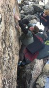 Rock Climbing Photo: Cruxy moves.