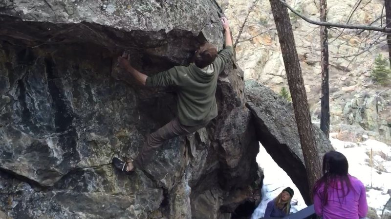 Rock Climbing Photo: Heading back right to top out.