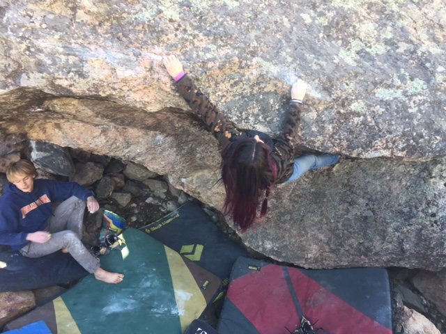 The crux section.