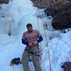 Jarrod getting geared up for his first ice climb.