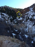 Rock Climbing Photo: View (looking south) of Bear Creek ice from CO Hwy...