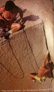Rock Climbing Photo: RWO 5.9 W a Swami Belt!!!