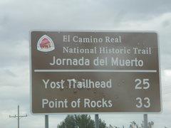 Rock Climbing Photo: Jornada del Muerto Trail